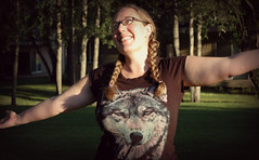 Wolf Mother! (Keltron - Thanks for 6 Million Views!) Tags: girl glasses nikond70 sweet happiness braids prettygirl wolfmother enthusiasm girlswithglasses lalenya closefriend friendsletfriendstakephotosofthem