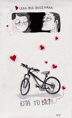 los riesgos de tener una buena bici/ hazards of having a good bike (casimira parabolica) Tags: art bike illustration comic arte drawing bicicleta dibujo ilustracion casimira