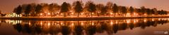 Embankment Panoramic (ScreenPhotography.co.uk) Tags: nottingham bridge trees reflection water reflections river memorial glow place dusk pano centre side trent pan nottinghamshire pana paulscreenphoto