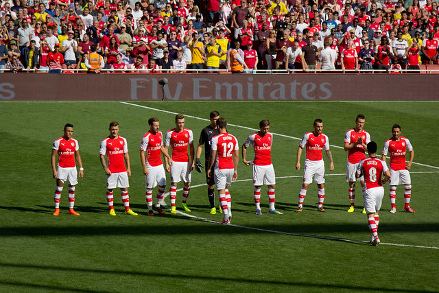 Before the game - ARSENAL VS MONACO