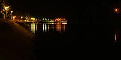 Sor colorido (JoFigueira) Tags: longexposure nightphotography light luz portugal colors rio night river cores noite alentejo reflexo longaexposio portalegre pontedesor reflectionoflight riosor ribeiradesor