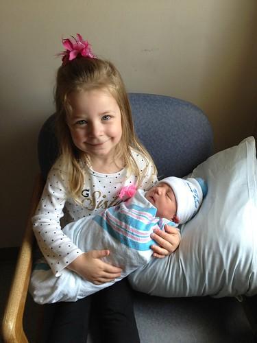 Avery and Brady at Hospital