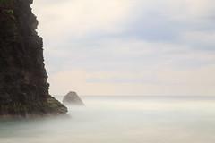 Kalalau Beach in the Mist (kyounger3) Tags: ocean longexposure beach clouds hawaii coast rocks kauai napali kalalaubeach nāpali canon6d bw30nd