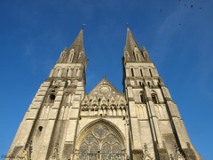 Beautiful towers (DameBoudicca) Tags: france tower church frankreich torre tour cathedral catedral iglesia kirche medieval notredame chiesa cathdrale torn normandie romanesque turm normandy francia gl