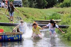 Crazy Raft Race _ 111 (lens buddy) Tags: uk england wet somerset rafting raft watersports fancydress cameraclub summergames langport thorney canoneosdigital crazyrafting lowlandgames2014