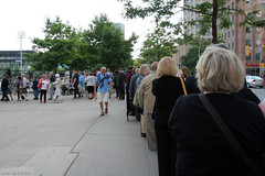 Queuing up to enter the Varsity Stadium (Can Pac Swire (away for a bit)) Tags: toronto ontario canada heritage history one 1 1st anniversary military wwi universityoftoronto ceremony canadian 100th 100 ww1 1914 worldwar forces armedforces 1918 299 centenary bloorstreetwest varsitystadium i aimg9934 19141918inmemoriam 20140731
