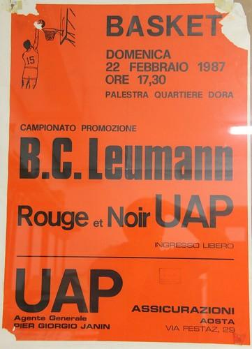 Manifesto Rouge et Noir AO vs. B.C. Leumann - Promozione Maschile