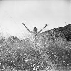 Freedom (Salt.as) Tags: portrait sky white mountain black 120 6x6 film girl marina landscape hands blond 400 hp5 medium format kiev ilford