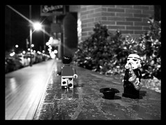 Street music (DVieytes) Tags: music night noche starwars lego cellphone jazz musica mobilephone stormtrooper minifig android legostarwars minifigure afol snapseed