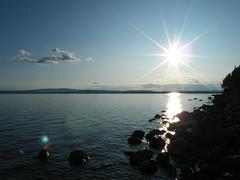 Aisjaure (mrjensgreen) Tags: summer sun lake cold water vatten sj kallt