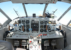 DSC_4307 (Proplinerman) Tags: ontario aircraft hamilton cockpit beech airliner c45 expeditor beech18 propliner cgzce