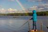 Fishing for the Pot of Gold (claudeallaert) Tags: lake ontario canada rain rainbow fishing granddaughter potofgold sonyilce7 fe55mmf18za cedarcoveresort