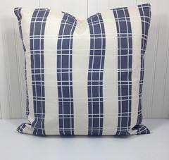 "16x16"" Indigo Blue Plaid Decorative Pillow Cover Indigo Pillow Case, Plaid Pillowcase, Blue 16x16 Pillow case READY TO SHIP (motifmotifdesign) Tags: art digital scrapbooking paper design decorative surface clip pillow cover clipart throw packs"
