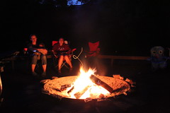 The campfire at night (Aggiewelshes) Tags: camping lisa august campfire logancanyon 2014 jalila guinavahmalibu