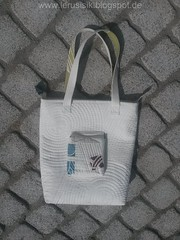 Nearly Tote (lerusisik) Tags: white modern bag quilt patchwork totebag ikeafabric