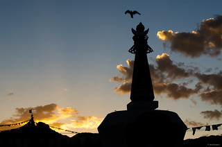 Silhouetted Stupa
