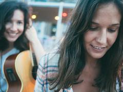 The Missing Sisters go tour (Sator Arepo) Tags: portrait musician music smiling rock sisters vintage lumix guitar folk song retrato double panasonic singer acoustic 17 pancake 20mm 40mm gf1 microfourthirds