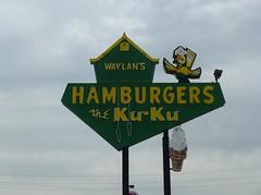WAYLANS THE KU KU MIAMI OKLAHOMA ROUTE 66 (ussiwojima) Tags: oklahoma sign advertising neon miami drivein hamburgers waylans thekuku