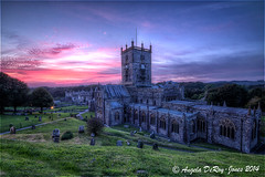 St David's Cathedral Sunset (angeladj1) Tags: sunset wales cathedral pembrokeshire stdavidscathedral