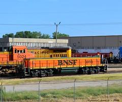 """BNSF Yard Slug #3958 (""""Righteous"""" Grant G.) Tags: city railroad west car yard train railway trains bn east missouri shops kansas locomotive slug bnsf westbound eastbound atsf midamerica"""
