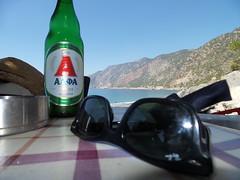 Greek beer in Agia Pavlos (hantomax) Tags: beach beer greece grecia crete agiopavlos agiapavlos agioioannispavlos