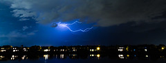 They're here.... (Justin Cameron) Tags: longexposure summer storm water weather night clouds america canon orlando kiss exposure florida flash wideangle thunderstorm lightning lightningbolt 2014 sigma1020mmf35 canon650d