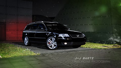 Clean & shiny (J.-J. Bartz) Tags: lightpainting black car night tdi stars photography shiny automotive hannover clean business shooting b5 passat v6 variant messeglnde 3bg