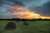 Haybale Sunset 2 (Lane Rushing) Tags: sunset nikon d600 2470f28 herowinner lanerushing rushingimagescom