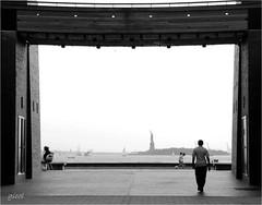 an empty stage (gicol) Tags: nyc newyorkcity sea urban usa ny statue america walking liberty libertad mare ciuda