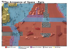The Arrogance of Space Paris - Eiffel Tower 002 (Mikael Colville-Andersen) Tags: paris france cyclist pedestrian research infrastructure data bikelane urbanism byplanlgning copenhagenize arroganceofspace