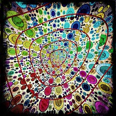 Dots and Loops #5 (Baky) Tags: red abstract japan weird arty patterns jesus surreal kitsch repetition psychedelic wacky iphone barky   wowiekazowie iphoneography barkyvision