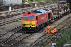 Eastleigh 60091 (davidhann34016) Tags: dbs eastleigh shunter eastyard class60 60091