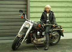 1/6th Scale Female Action Figure (Camwader Jon) Tags: boy scale girl play fat harley harleydavidson 16 tamiya 16th davidson fatboy cy bikerchick cygirl flstf 16thscale camwader 16tamiya camwaderjon bilerchick
