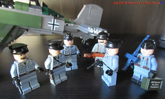 My German WWII Luftwaffe set (dmikeyb) Tags: lego wwii ww2 german luftwaffe airforce pilots officer officers soldiers soldier antiaircraft gun rifle luger war russian soviet