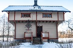 Kahvila Mieritz (Jori Samonen) Tags: kahvila cafe mieritz house building winter snow tree plant decoration roof chimney window door steps seurasaari helsinki finland nikon d3200 180550 mm f3556 nikond3200 180550mmf3556