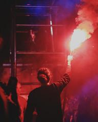 Afrodita y el juicio de Paris (Ivan Contreras C.) Tags: performance guadalajara cultura cultural art arte mexico afrodita y el juicio de paris la fura del baus presentacion acrobata dance danza aphrodite rojo red light luz luzroja redlight