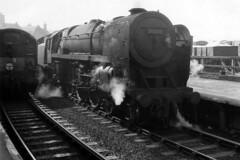 Carnforth Brit (4486Merlin) Tags: bw brstd7mtbritannia railways steam transport carnforth lancashire unitedkingdom gbr 70005 johnmilton metrovick cobo