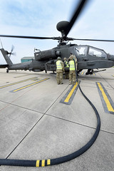 Pictured is an ''Apache'' helicopter at the Army Aviation Centre, Middle Wallop. (aeroman3) Tags: man male soldier nonidentifiable personnel ah1d apache attack helicopter aircraft equipment aac armyaircorps regiments army middlewallop stockbridge uk