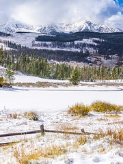 Winter's Approach (PlataYOro) Tags: ifttt 500px winter snow cold ice white sky clouds blue trees tree mountain mountains forest light colorado rocky peaks fresh serene alone fence rustic rural