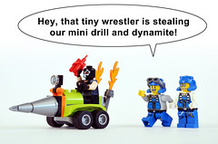 Grand Theft Drill (Oky - Space Ranger) Tags: lego dc comics super heroes bane drill power miners doc brains thunder driller dynamite grand theft