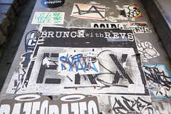 brunch with revs (eb78) Tags: nyc newyorkcity manhattan streetart chelsea graffiti wheatpaste cost revs