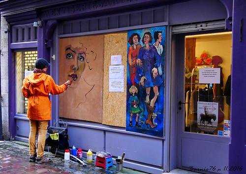 Artiste peintre sur boutique