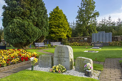 Garden Of Remembrance (Kev Gregory (General)) Tags: garden remembrance pan am flight 103 dryfesdale cemetery lockerbie scotland surrounded wall lawns flower beds paths composed three stone tablets blocks names six columns lettering black stones inscription plaque lawn bronze gold coloured edging private plaques kev gregory canon 7d disaster crash boeing 747 terrorist