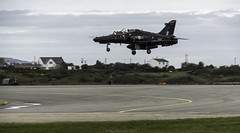 Practice Landing (devil=inside) Tags: jet aircraft plane raf valley black practice training anglesey wales landing airport handphotography sony a77 tamron150600