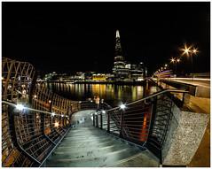 London Bridge vista 1... (kevingrieve610) Tags: river thames london bridge city flickr fujifilm outdoor samyang 8mm fisheye wideangle autumn 2016 water lights reflections
