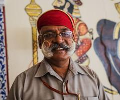 Bigote (Nebelkuss) Tags: india udaipur moustache bigote retrato portrait palacio palace guardia guard elzoohumano thehumanzoo fujixt1 fujinonxf23f14