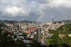 Keelung, Taiwan _IMG_7678 (Len) Tags: taiwan keelung keelungharbor keelungport    rainbow cityscape urban city    town clouds 6d 1635lii ef1635mmf28liiusm cpl pixel