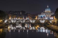 Un anno dopo (florenzi.daniele) Tags: roma notte ponte sant angelo san peter night