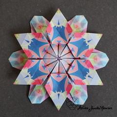 Iimori Flower I (Day 42) (Yureiko) Tags: yureiko tessellation papierfalten papier origami paperfolding paper