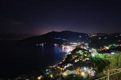Moneglia di notte (kmclaudio) Tags: pentaxart notte stelle aria allaperto luci cielo mare moneglia liguria